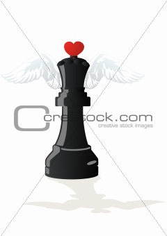 Amorous chess - Black Queen