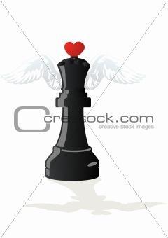 Amorous chess - Black Queen
