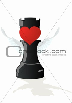 Amorous chess - Black Rook