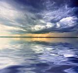 Rain over sea