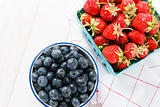 Red Strawberries with Blueberries