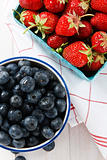 Summer Strawberries and Blueberries