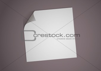 illustration of a blank white paper