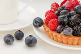 fruit tart with blueberries