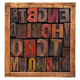 vintage wood type blocks