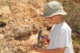 Boy Geology Student