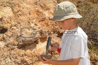Boy Geology Student