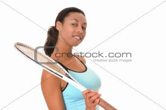 African American Tennis Girl