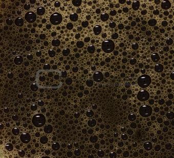 black coffee bubbles