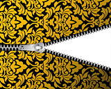 Seamless damask background with zipper