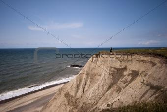 Cliff erosion at the Danish coastline