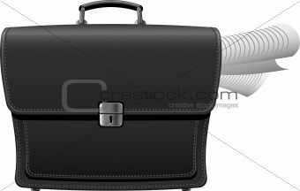 Briefcase with documents