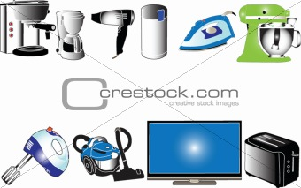 household electric appliances collection