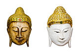 Thai mask isolated on a white background.