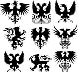 heraldic crest vector set