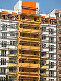 Construction of new modern apartments
