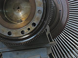 Power generator steam turbine during repair