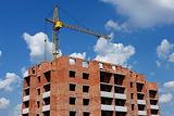 Building crane on the construction