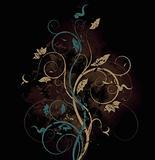 Floral bitmap background