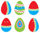 Vector set of Easter eggs