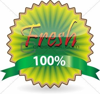 Kiwi shape Fresh label