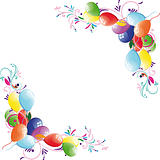 Floral balloon background