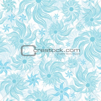 Art flower seamless background