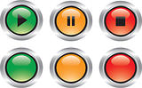 Nice set of glossy icons like buttons