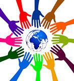 globe hands