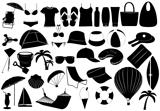 Illustration of summer vacation objects