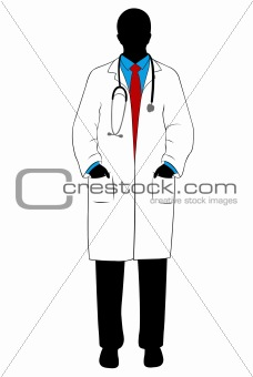 Medical doctor silhouette