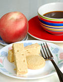 Healthy English Breakfast time with fruit and coffee