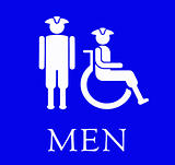 Sign for the Mens room