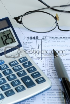 Calculate the United States income tax return
