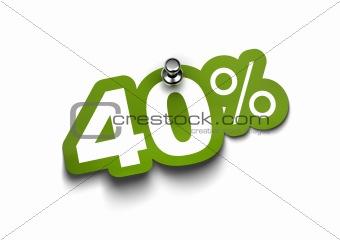 forty percent sticker