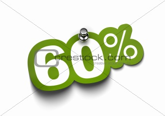 sixty percent sticker