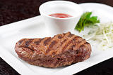 Juicy roasted beef steak
