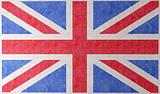 england flag on wall