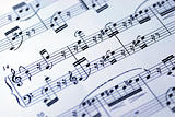 Music sheet on the white background