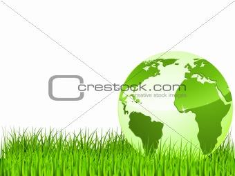 green earth on green grass