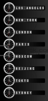 Timezone clock