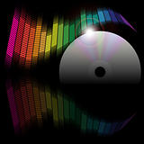 Abstract Background - Equalizer and CD Disc