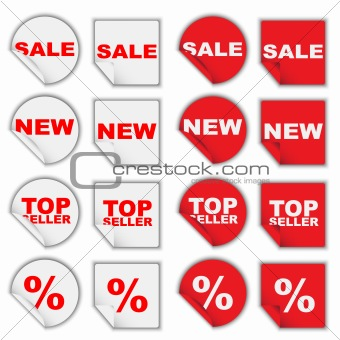 Set of Retail Tags