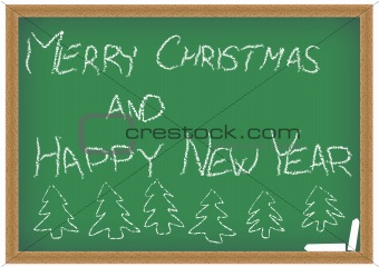 Green Chalkboard With Christmas Wish