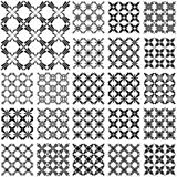 Seamless patterns. Designs set with cross elements.