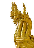 Head of golden Naga in isolation