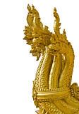 Head of golden Naga in isolation