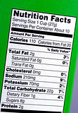 Check out the nutrition facts from the boxsign number 5 on a plastic box converted to monotone