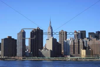 Skyline for Mid-town Manhattan in New York City