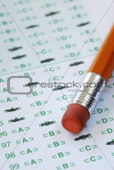 Fill the computer grade sheet with the pencil